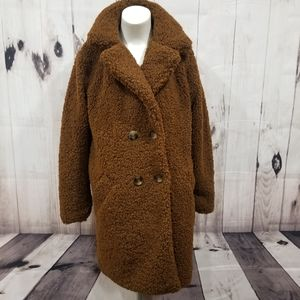 Jackets & Coats - BROWN Sherpa Coat